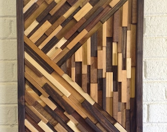 FREE SHIPPING!Wood Wall Art - Modern Wood Wall Art