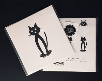 Cat felix Greeting Card by DrawMe Designs