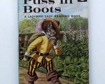 Vintage Ladybird Book - Puss in Boots- very good vintage condition- children's story Book