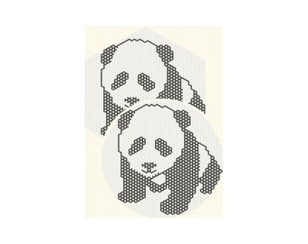 Panda - Beaded Doily Pattern