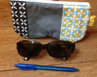 "Flat clutch / ""Provence"" glasses case"