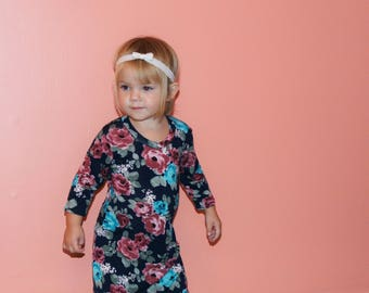 Baby Floral Dress, Flowy Dress, Mommy and Me, Matching Dresses, Little Girl Dress