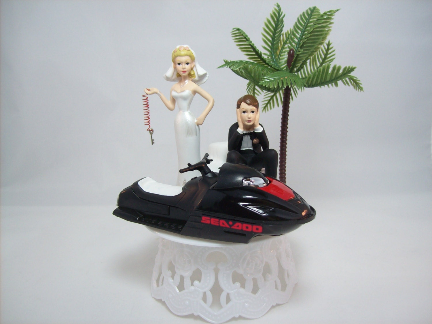 water ski wedding cake topper jet ski wedding cake topper w die cast black ski sea doo wave 21682