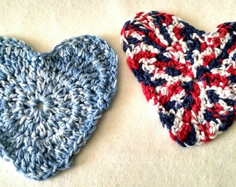 Crochet Heart Washcloth