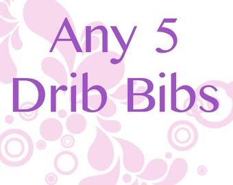 Any 5 Drib Bibs