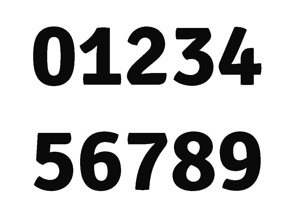 Slim Folding Numbers 0 9 Pattern Pdf Normal Sized Free