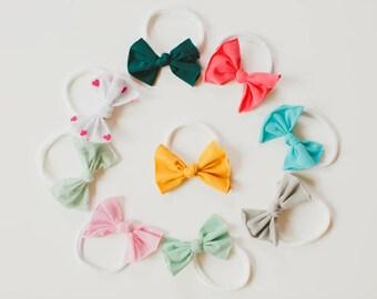 Nylon Baby Headband, Baby Headband,Knotted Baby Headbands, Nylon Headbands, Baby Bows, Baby Headbands, Baby Knot Headband