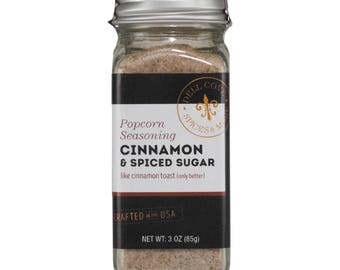 Cinnamon and Spiced Sugar Popcorn Seasoning