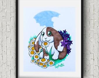 Baby bunny  Nursery decorkids room decor bunny  Nursery Art Print 8x10 11x14 16x20