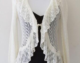 Vintage Crochet Ivory Sweater