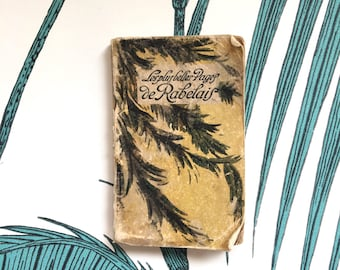 Rare Antique Book. Miniature Book. Rabelais. Livre ancien. Editions Nilsson. Small Book. French Literature. Collectibles. French Antiques