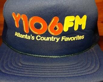 Vintage Y106 FM Atlantas Country Favorites snapback trucker hat