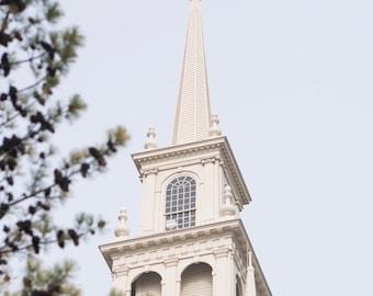 Church Steeple in Newport, Rhode Island