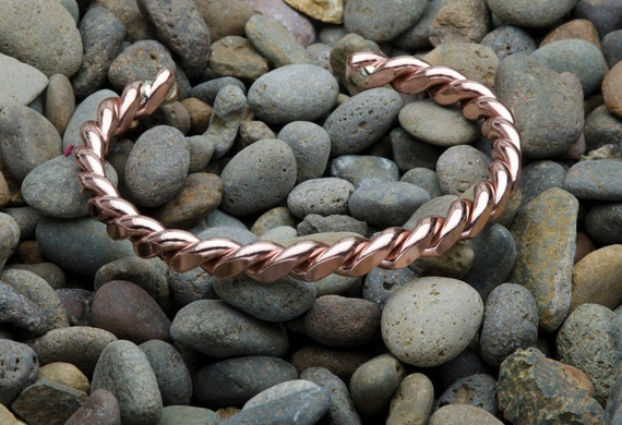 Copper Twist Cuff Bracelet