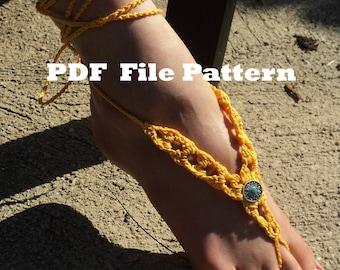 Crochet PATTERN - Sungold Barefoot Sandals