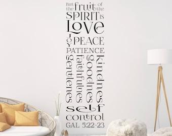 "Vinyl Wall Decal | Galatians 5:22-23 | ""But the fruit of the spirit is love, joy, peace..."" | Church Decor ~ Classroom Decor ~ Home Decor"