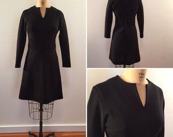 Bleeker Street stylish vintage black knit dress