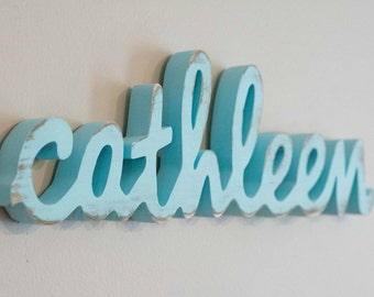 Small Baby Name Sign, Shelf Display, Name Art, Wooden Name, Kid's Room, Nursery decor, wood name sign, wood letters for nursery