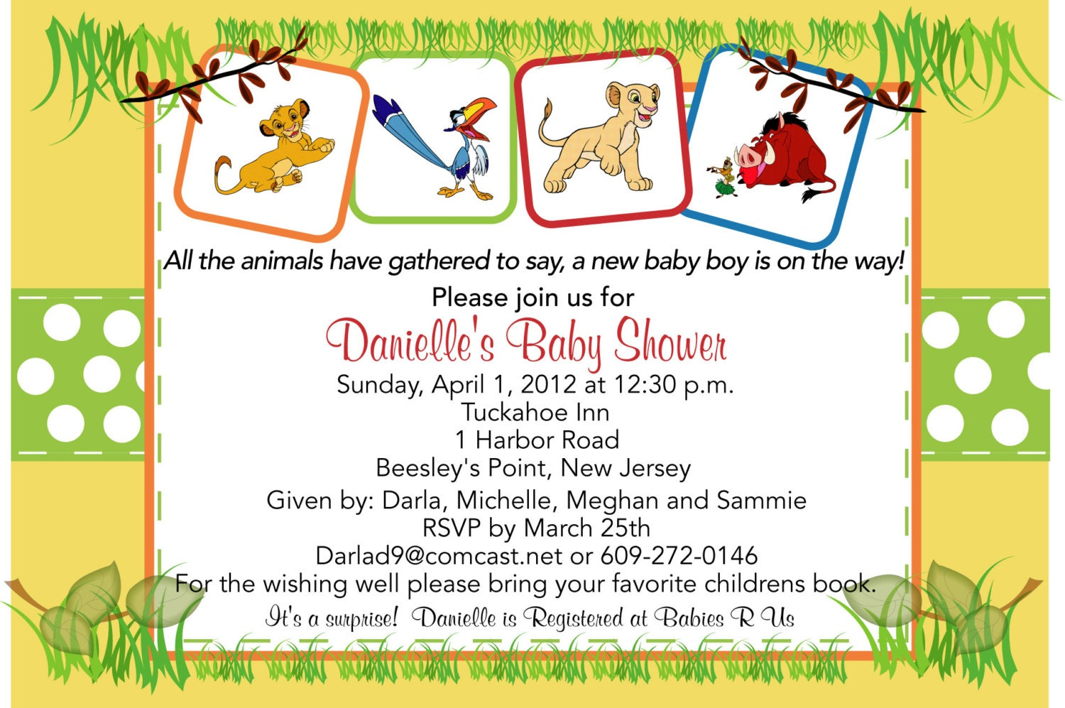Lion king baby shower invitation zoom filmwisefo Gallery