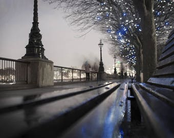 Thames River Walk Canvas Photo