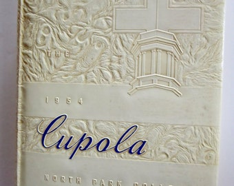 Vintage Yearbook 1954 Yearbook Cupola North Park College Vintage College Yearbook School Memorabilia