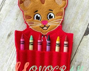 Daniel Tiger inspired crayon holder