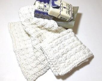 Dishcloths, Knitted Dishcloths, Washcloths, Waffle Design, Handmade