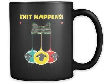 Mug for Knitters | Knitting Coffee Mug | Funny Gift For Knitters