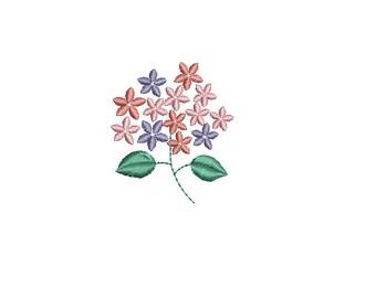 Mini hydrangea--Machine Embroidery Design