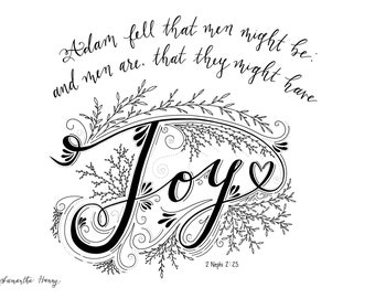 LDS Printable Coloring Pages Joy