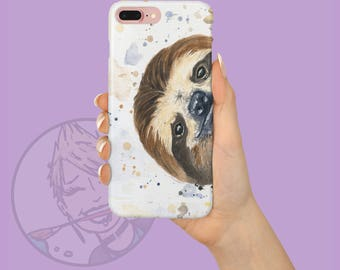 Sloth iPhone Case - Sloth Galaxy Case - iPhone X Case - Animal Lover - Best friend Gift - Sloth Phone Case - Sloth Gift - Mom Gift