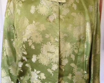Vintage Green Silk Jacket