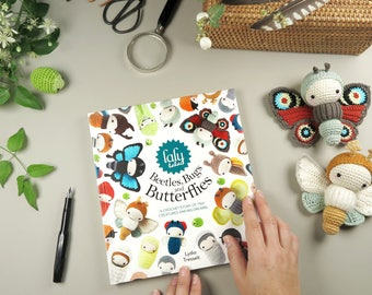 lalylala BOOK 'Beetles, Bugs and Butterflies' (English) + exclusive Cotton Project Bag • amigurumi insect crochet patterns