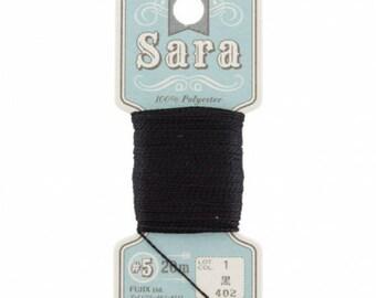 Embroidery FLOSS black Sara 402