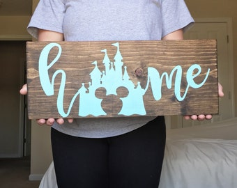 Home Disney Inspired Sign