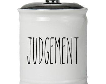 Judgement Word Jar With Lid - Money Coin Jar - Money Bank - Money Jar - Money Jar With Lid