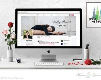wordpress header design hero image header premade logo design website header social media cover design website branding custom header design