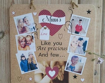 Mothers Day Personalised Photo Plaque