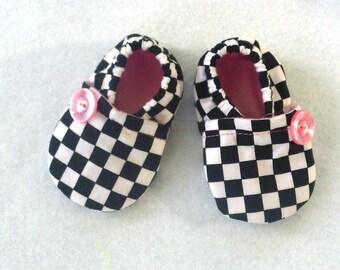 Baby shoes Racing Fabric / Baby Girl Pink