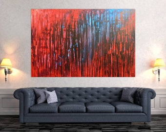 Modern abstract artwork in XXL by Alexander Zerr acrylic on canvas 120x180cm #462