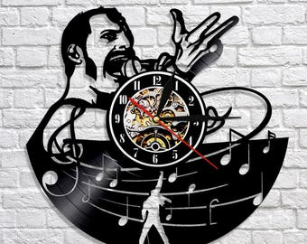 Queen Music Band Gift Vinyl Record Wall Clock