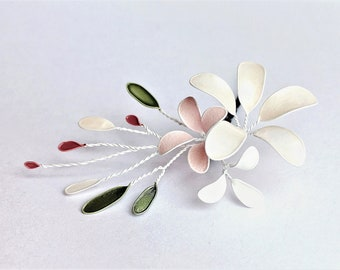 Hair Clip Flower vine-Apple Blossom