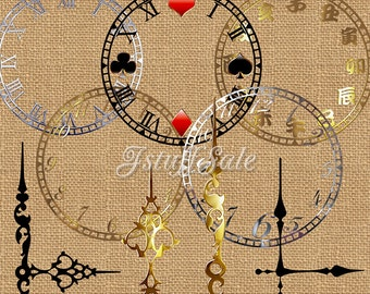 Clock face digital clipart - transparent background png files - 33 images