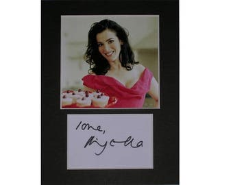 Nigella Lawson TV Chef printed signed autograph 8x6 inch mounted photo print display