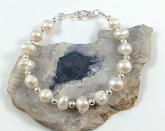 Mother's Day SALE! - Freshwater Pearl Bracelet, Freshwater Pearl Jewelry, Pearl Jewelry, June Birthstone