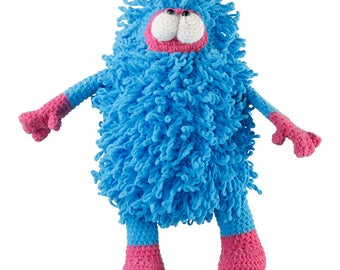 Crochet Blue Fuzzy Monster Amigurumi