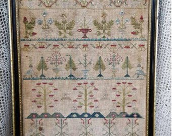 SAMPLERS NOT FORGOTTeN Ann Wright 1726 counted cross stitch patterns at thecottageneedle.com 2018 Nashville Market