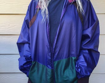 Vintage Retro Clothing- Vintage Streetwear- Cool Styles- Vintage Clothing- Retro windbreaker size XL!!