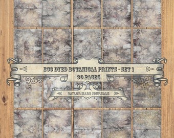 Eco Print Paper, Botanical Print Kit -30 Page Digital Kit,Perfect for Journals,Junk Journals,Mixed Media, Card Making,Scrapbooking,& Collage