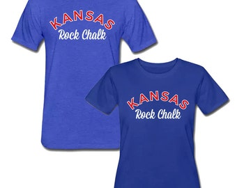 Kansas Rock Chalk KU Shirts - University of Kansas Jayhawks Tee - Men's and Women's